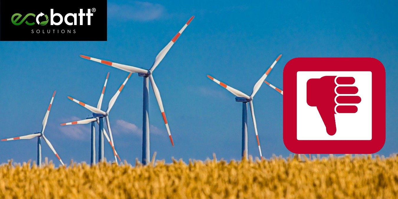 what are the disadvantages of wind energy