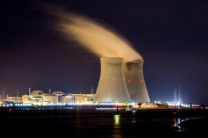 the shape of cooling towers is specifically designed to effectively cool the fluid in the system