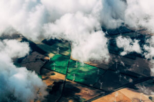 Wind farm installations still allow farmers to cultivate the land around them